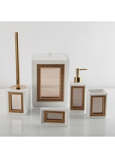 Nazik Home Vintage Aynalı 5'li Banyo Seti (1. Sınıf) Beyaz